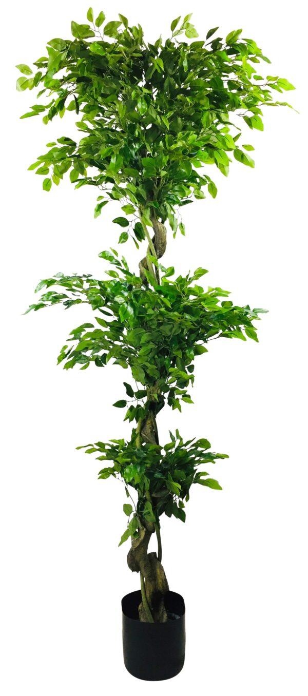 Artificial Ficus Leaf Topiary Mini Leaves 175cm