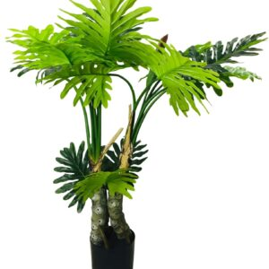 Artificial Philodendron Tree, Spot Stems 135cm