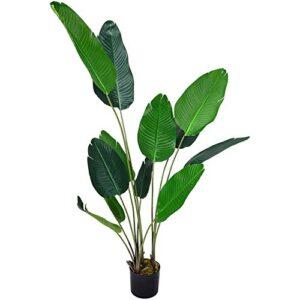 INMOZATA Artificial Banana Tree Tropical Plant Decorative Plants in Pot for Indoor Outdoor Garden 180cm