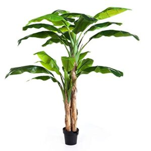 artplants.de Artificial Banana tree AMARU, 6ft/180cm - Fake tree