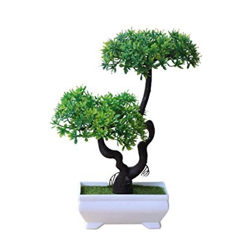 Bonsai Tree Uk - Decorative Artificial Plants - Indoor Plants Real Look - Bonsai Tree - Artificial Gifts For Parents Who Have Everything (Green 5)