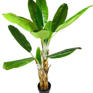 Geko Artificial Banana Tree 140cm Plant - Detailed Fake Plant, Plastic Plant, Rubber Plant, Fake Tree, Artificial Tree