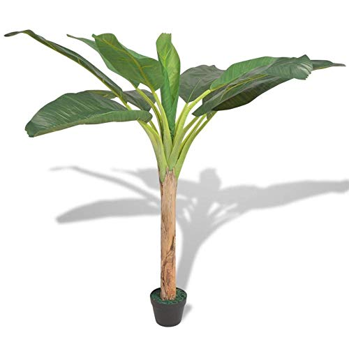 DHTOMC Artificial Plants Artificial Banana Tree Plant With Pot 150 Cm Green For House Office Bathroom