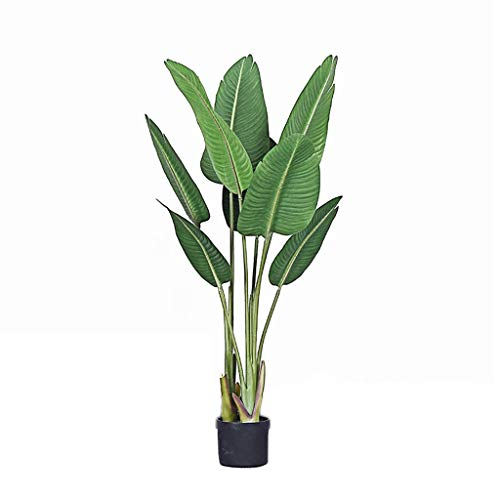 xutu Plant 3.9Ft Fake Banana Tree, Artificial Bird of Paradise Plant 120cm for Indoor Outdoor, Large Potted Greenery Plants for Home, Office, Lobby Decor
