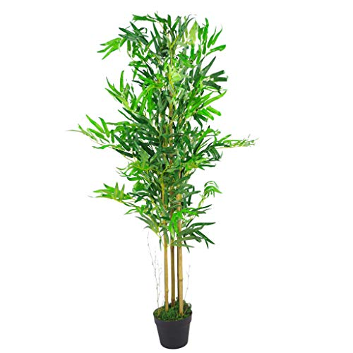 Leaf Artificial Bamboo Plants Trees-XL Realistic-120cm, Natural Brown, 120cm