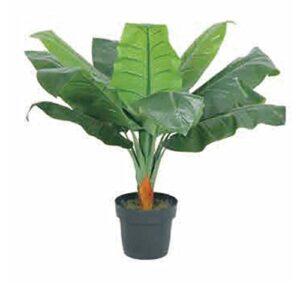 Leaf 80cm Stunning Artificial Plants/Trees, Light Banana