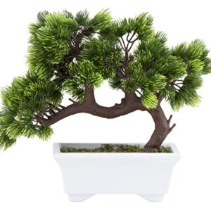 Artificial Bonsai Tree - Fake Plant Decoration, Potted Artificial House Plant, Zen Garden Décor, 26 x 24 x 12 cm
