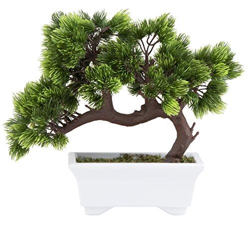 Artificial Bonsai Tree - Fake Plant Decoration, Potted Artificial House Plant, Zen Garden Décor, 26 x 24 x 12 cm