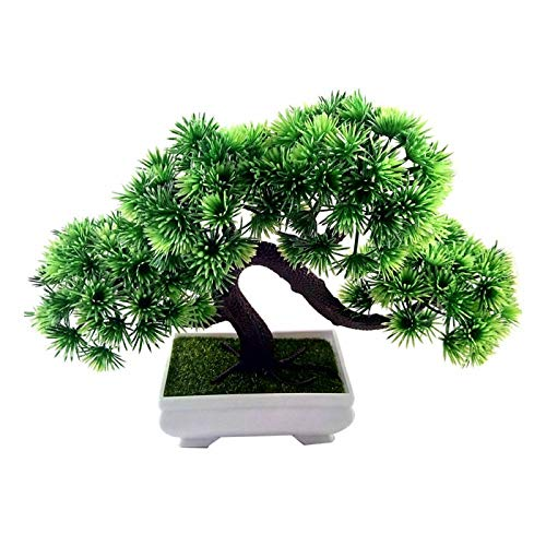 180mm Bonsai Tree in Pot Artificial Plant Decoration for Office/Home Green