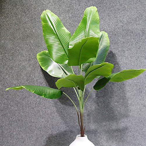 LAMF Artificial Plants Tropical Leaves Faux Banana Tree Fake Tropical Large Palm Tree Leaves Imitation Leaf for Home Kitchen Wedding Party Flowers Arrangement