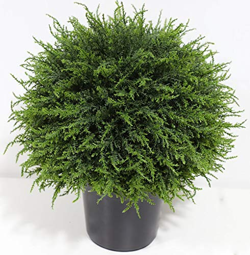 momoplant 18 inch Artificial boxwood topiary tree Artificial Cedar Cypress tree Artificial cypress spiral topiary trees Artificial Tree,topiary trees artificial outdoor Cypress ball