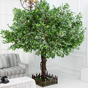 JSBVM Large Artificial Tree, Large Banyan Tree Large Plant Simulation Banyan To Hang on Leaf Design Plant Height Leaves Tree Color Plants Ivy, 1.5M,B,1.5x1m