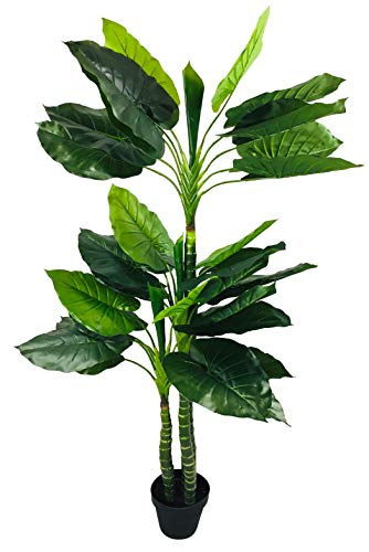 Geko Artificial Taro Tree with 3 Trunks 150cm, Green, Large, One Size