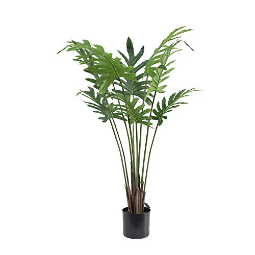 momoplant Artificial Indoor Plant Decor, 47inch/120cm Evergreen Taro Palm Tree for Home Office