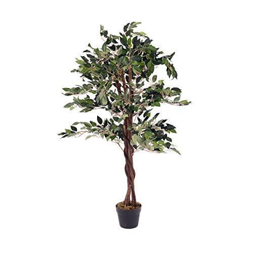 Oypla Artificial Ficus Tree Plant 120cm Indoor Outdoor Garden Decoration