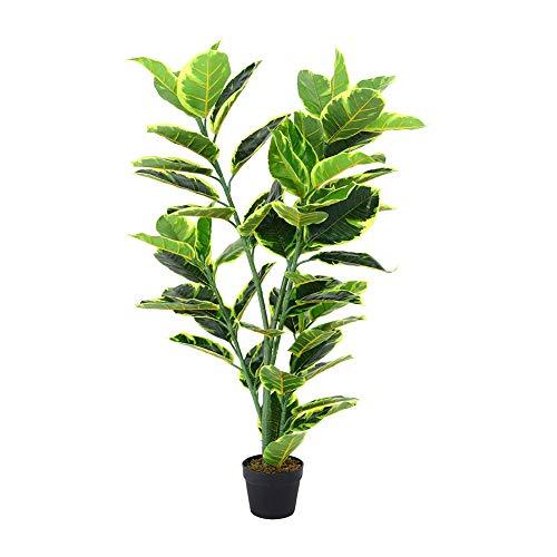 INMOZATA Artificial Ficus Tree Fiddle Fig Plant Decorative Plants in Pot for Indoor Outdoor Garden 120CM