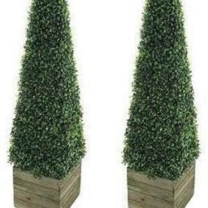 2 x Artificial Trees 3ft Pyramid Cones - Indoor artificial trees - Topiary trees