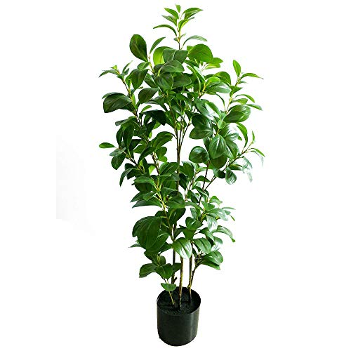 momoplant Artificial Evergreen Plant, 43inch/110cm Fake Indoor Tree for Home Office Decor with Pot