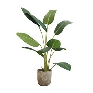 LIFA LIVING Artificial Plant, Fake Strelitzia Plant for Decoration, Tall Realistic Strelitzia tree for Bedroom and Office 150 x 50 cm