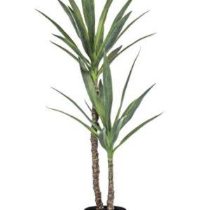 artplants.de Fake yucca FRONTEIRA, 4ft/110cm - Artificial yucca plant/Faux tree