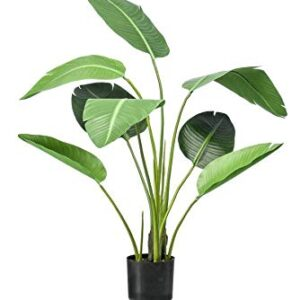 artplants.de Artificial bird of paradise flower KUMBIA, green, 120cm - Silk Strelitzia/Fake crane flower plant