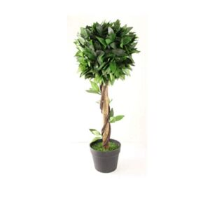 FabFinds Artificial Topiary Tree Pyramid Bay Potted Tree Plant for Garden Patio Outdoor and Indoors - 70cm Tall
