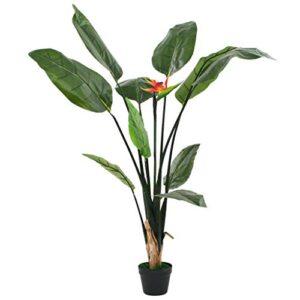 Tidyard Artificial Plants Indoors Artificial Plants Outdoor Large Strelitzia Reginae Plant Bird of Paradise 155 cm