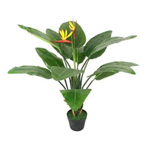 3 ft Artificial Bird of Paradise Plant Tropical Potted Strelitzia Flowers