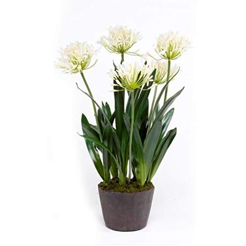 Emerald Artificial Agapanthus 75cm Cream Faux Lifelike Indoor Plant Greenery