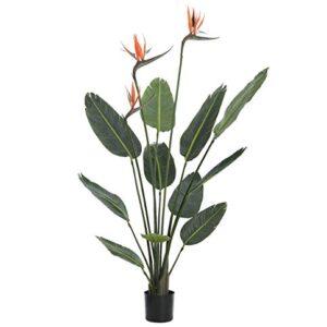 Artificial Bird of Paradise Plant (Strelitzia) - 1.2m high, premium quality replica houseplant.