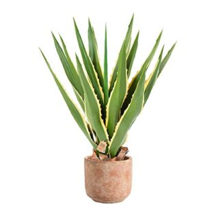 Flore Office Agave FURCRAEA 80 Artificial Agave 80 cm High-Quality Outdoor Artificial Plants