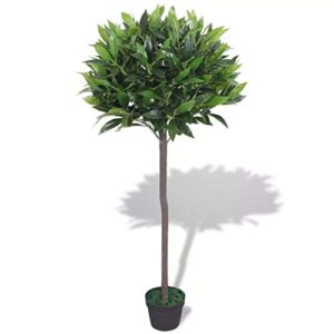 E-Greetshopping Artificial Bay Tree Plant with Pot 125 cm Green