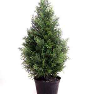 Best Artificial Potted Cedar Pine Cypress Conifer Tree (2ft)