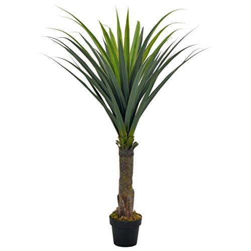 vidaXL Artificial Plant Yucca Tree with Pot Home Office Indoor Outdoor Authentic Realistic Faux Fake Flower Greenery Decoration Green 145cm