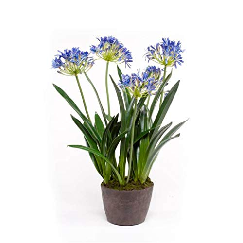 Emerald Artificial Agapanthus 75cm Blue Faux Lifelike Indoor Plant Greenery