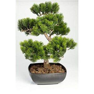 """artplants.de Artificial Bonsai Tree Pine in planter, 210 needles, 20""""/50cm, outdoor - Silk Bonsai/Bonsai Replica"""