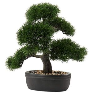 """14.1"""" Artificial Bonsai Tree Fake Plant Japanese Bonsai Decoration Potted Faux Pine Plants Bonsai Tree for Indoor/Outdoor Home Office Hotel Décor"""