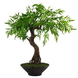 Leaf 45cm Artificial Bonsai Tree, Twisted Ficus Bosai