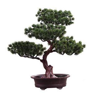 FADDARE Artificial Bonsai Tree, Inviting Decorative Bonsai Pine Pot Plant DIY, Desk Displays Simulation Fake Tree Pot Ornaments for Home, Office, Business