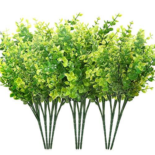 Auihiay 10 Bundles Artificial Boxwood Shrubs