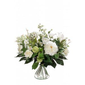 Emerald Artificial Bouquet White Dream