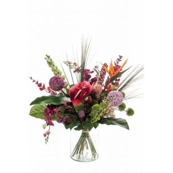Emerald Artificial Bouquet Exotic Mix