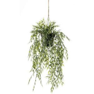 Emerald Artificial Bamboo Hanging Bush in Pot 50 cm