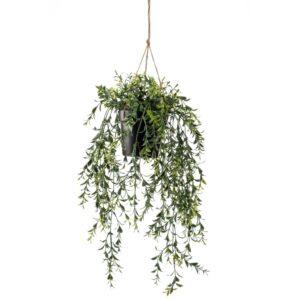 Emerald Artificial Boxwood Hanging Bush in Pot 50 cm