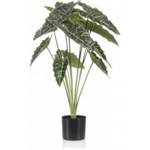 Emerald Artificial Alocasia in Pot 80cm