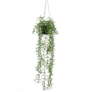 Emerald Artificial Senecio Hanging Bush in Pot 70 cm