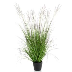 Emerald Artificial Catkins Grass in Pot 105 cm