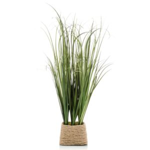 Emerald Artificial Grass Bush in Rope Pot 40cm