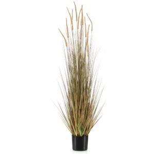 Emerald Artificial Foxtail Grass Autumn in Plastic Pot 150 cm