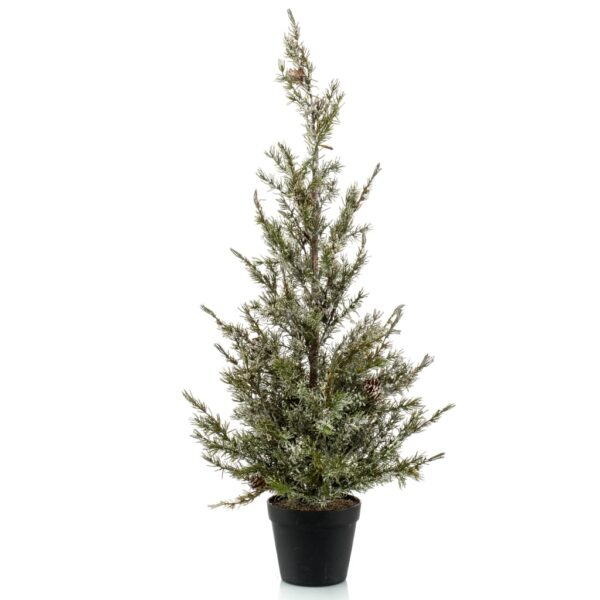 Emerald Artificial Abies Pine Tree with Ice 95 cm